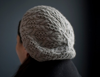 Cables and Lace Beret by Michele Wang