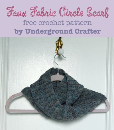 Faux Fabric Circle Scarf, free crochet pattern by Marie Segares/Underground Crafter