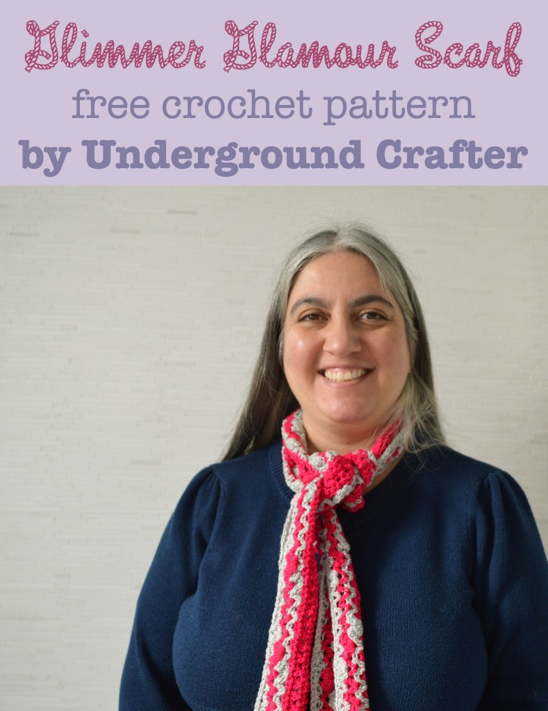 Glimmer Glamour Scarf, free crochet pattern by Marie Segares/Underground Crafter