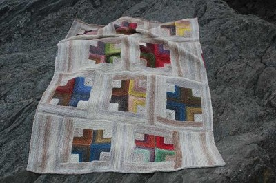 Mitered Crosses Blanket by Kay Gardiner. Image (c) Kay Gardiner.