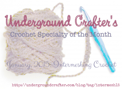 Underground Crafter's Crochet Specialty of the Month: January 2015 intermeshing crochet