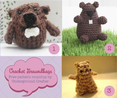 Crochet Groundhog Free Pattern Roundup by Underground Crafter