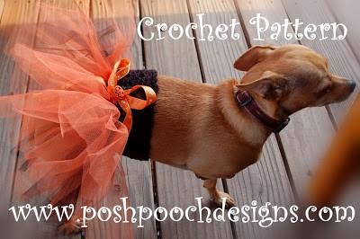 Doggie Tutu, free crochet pattern. Image (c) Sara Sach/Posh Pooch Designs.