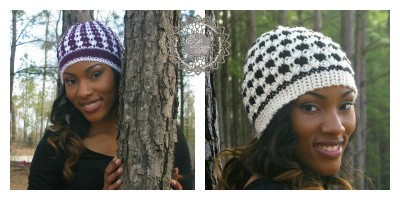 Roundup of 10 free crochet hat patterns for women on Underground Crafter blog
