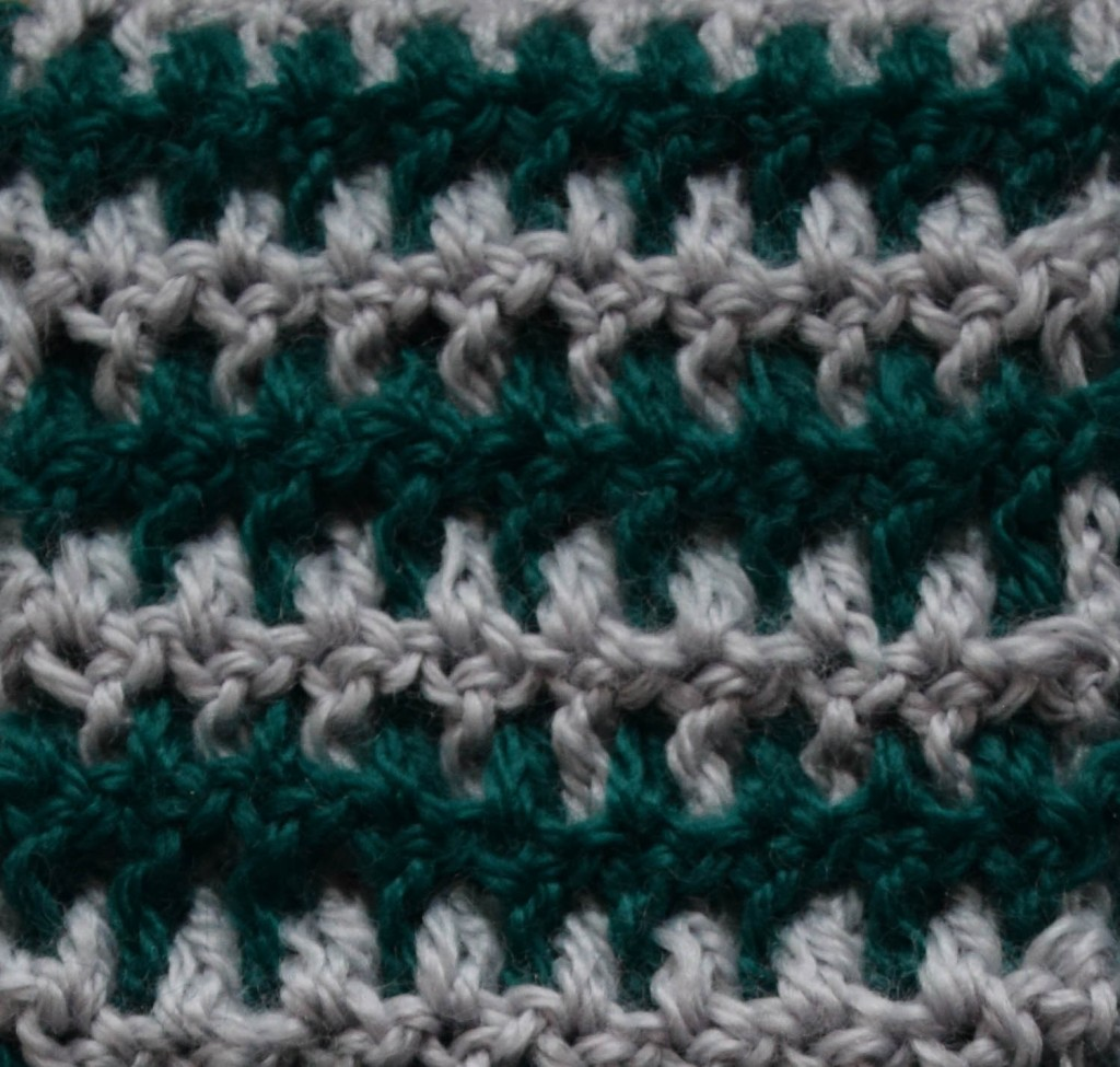 This intermeshing crochet stitch pattern is reversible.