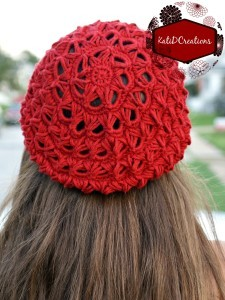 Jessica's Broomstick Lace Slouch Hat by Katherine Donahue of Kati D Creations