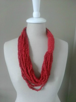 Chain Necklace Cowl, free crochet pattern by Aprile Mazey