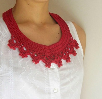 Collar Necklace, free crochet pattern by ChabeGS