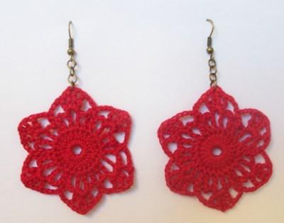 Crochet Earrings #2, free crochet pattern by Grace Fearon