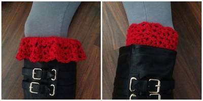 Lestat Inspired Lacy Boot Cuffs 1 & 2 Manda Proell