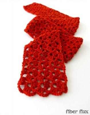 Love Notes Scarf, free crochet pattern by Fiber Flux