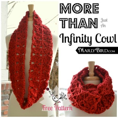 More Than Just an Infinity Cowl, free crochet pattern and tutorial by Marly Bird