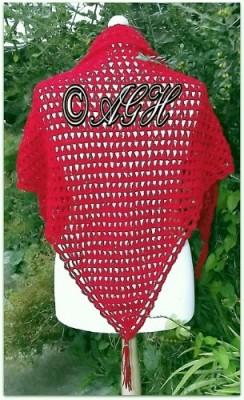 Poppy Shawl, free crochet pattern by AG Handmades