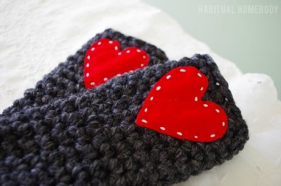 Super Quick and Chunky Wrist Warmers Habitual Homebody
