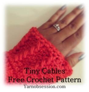 Tiny Cables Fingerless Gloves Sedruola Maruska