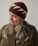 Triangles Beanie by Marie Segares at Underground Crafter.