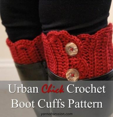 Urban Chick Crochet Boot Cuffs by Sedruola Maruska