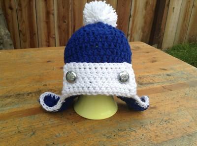 Arctic Fury Aviator Hat, free crochet pattern by Manda Robertson.