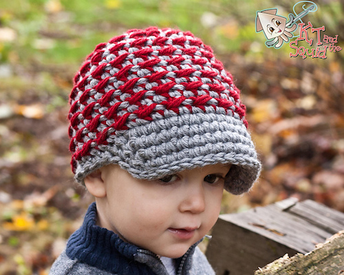 Chunky Crunchy Newsboy Hat, crochet pattern by KT and the Squid.