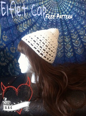 Elflet Hat, free crochet pattern by Manda Robertson.