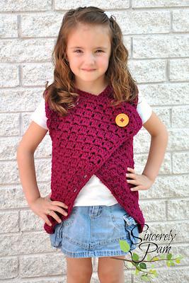 Madison Vest, crochet pattern by Sincerely, Pam.