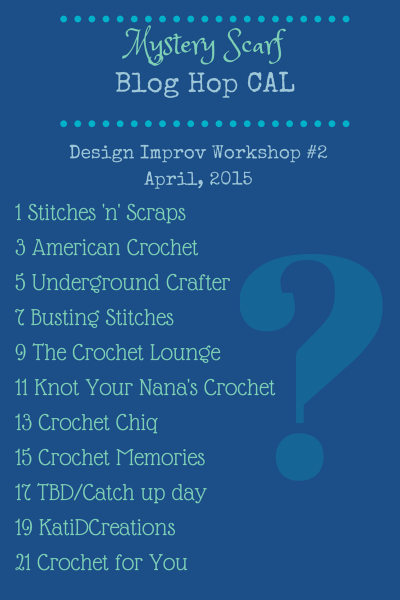 Mystery Scarf Blog Hop CAL April 2015 Design Improv Workshop 2
