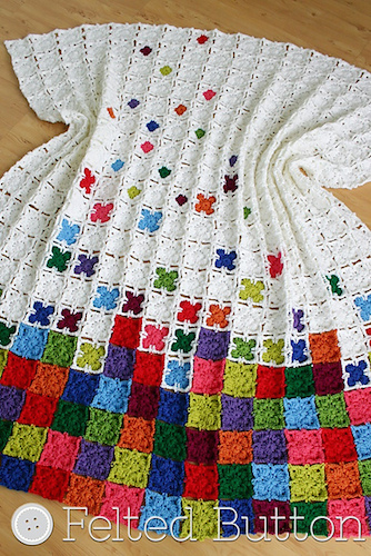 Rainbow Sprinkles Blanket, a crochet pattern by Felted Button.
