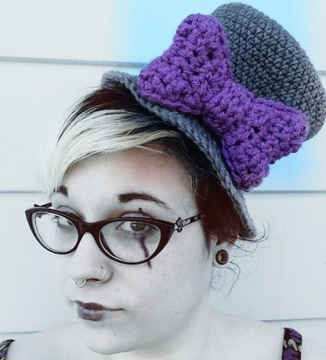 Top Hat for Her, free crochet pattern by Manda Robertson.