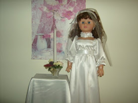 An 18-inch doll dress Rhelena sewed for her niece.