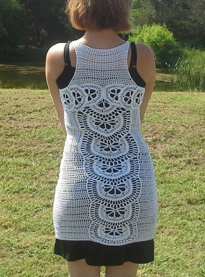 Bohemian Rhapsody Dress, free crochet pattern by High Strung Designs.