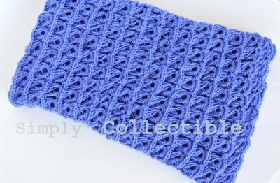 Broomstick Lace Baby Blanket, free crochet pattern and photo tutorial by Simply Collectible.