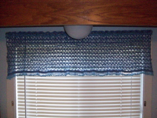 Broomstick Lace Beaded Valance, free crochet pattern by CrochetN'Crafts.