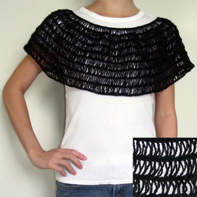 Broomstick Lace Capelet, crocet pattern by Rachel Choi/Crochet Spot (for sale).