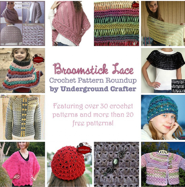 Roundup: 30 broomstick lace crochet patterns, including 20+ free patterns