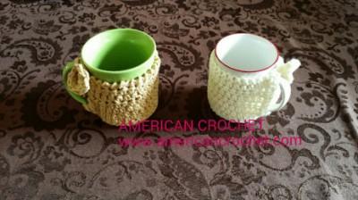 Coffee Cup Cozy, free crochet pattern by Mistie Bush.