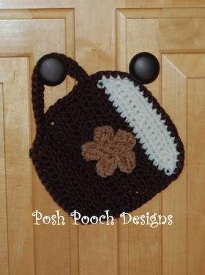 Coffee Hot Pad, free crochet pattern by Sara Sach.
