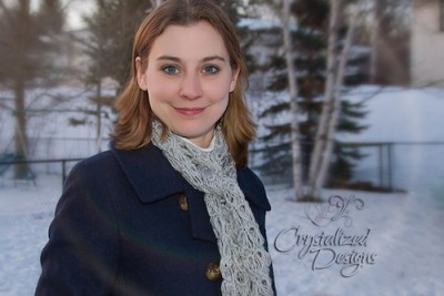 Broomstick Lace Scarf, a free crochet pattern and tutorial by Crystalized Designs.
