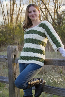 Pam's Pullover (Adult version), a for sale crochet pattern by Crystalized Designs.