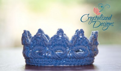 Perfect Prince/Princess Crown, a for sale broomstick lace pattern by Crystalized Designs.