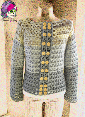 Glamour Broomstick Lace Jacket, crochet pattern by Glamour 4 You (for sale).