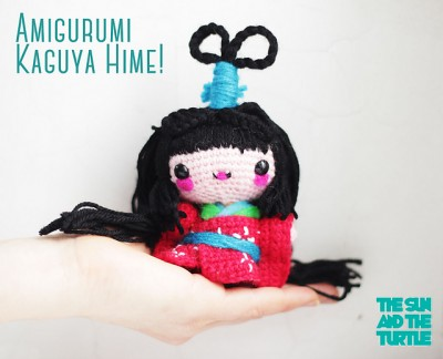 Kaguya Hime Kokeshi Doll, free crochet pattern by The Sun and the Turtle.