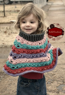 Marie Louise Poncho, free crochet pattern by Kati Donahue.