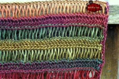 Unforgettable Broomstick Lace Shawl, free crochet pattern by Kati Donahue.