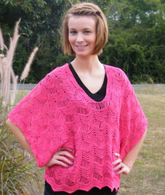 Rosaline Kimono Tunic, free drop stitch crochet pattern by Kim Guzman.