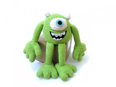 Mike the Monster, free crochet pattern by Stacey Trock.
