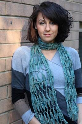 One Salt Sea, a hairpin lace crochet pattern by Jennifer Raymond.