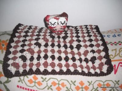 Owlet Lovey, free crochet pattern by Jessie Rayot.