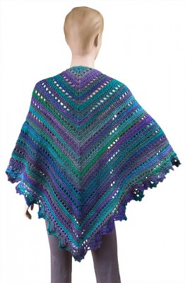 Penelope Shawl, free crochet pattern by Carolyn Christmas.