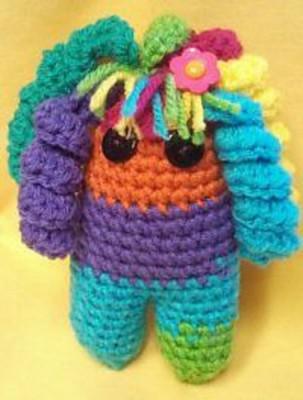 Rainbow Rachael Doll, free crochet pattern by Beatrice Ryan Designs.