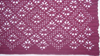 Spider Lace Throw, free crochet pattern by Heather Tucker.